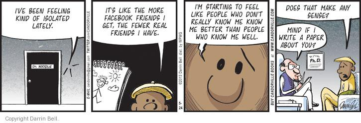 Comic Strip Darrin Bell  Candorville 2013-05-24 Facebook like