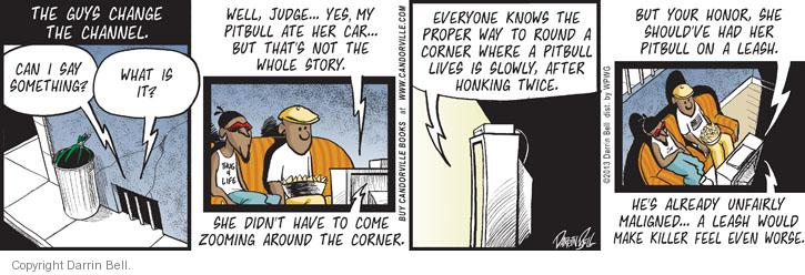 Comic Strip Darrin Bell  Candorville 2013-05-31 killer