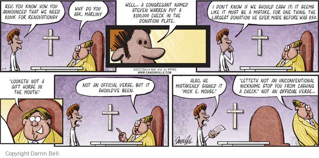 Comic Strip Darrin Bell  Candorville 2013-06-09 church