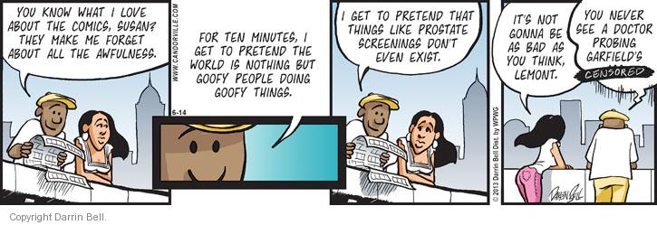 Comic Strip Darrin Bell  Candorville 2013-06-14 expectation