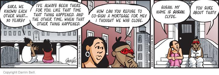 Comic Strip Darrin Bell  Candorville 2013-06-15 friendship