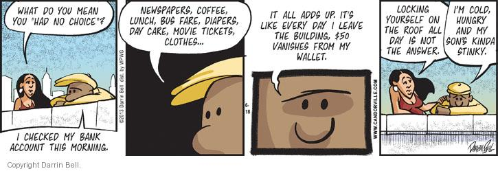 Comic Strip Darrin Bell  Candorville 2013-06-18 finance