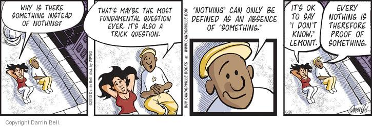 Comic Strip Darrin Bell  Candorville 2013-06-26 philosophical