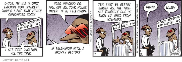 Comic Strip Darrin Bell  Candorville 2013-06-29 stock market