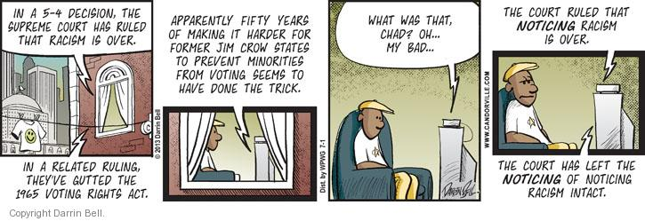 Comic Strip Darrin Bell  Candorville 2013-07-01 voting rights