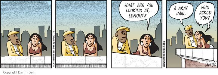Comic Strip Darrin Bell  Candorville 2013-07-05 hair color
