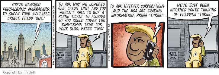 Comic Strip Darrin Bell  Candorville 2013-07-08 George Zimmerman