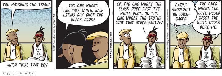 Comic Strip Darrin Bell  Candorville 2013-07-09 violent