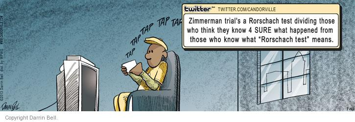 Comic Strip Darrin Bell  Candorville 2013-07-10 George Zimmerman