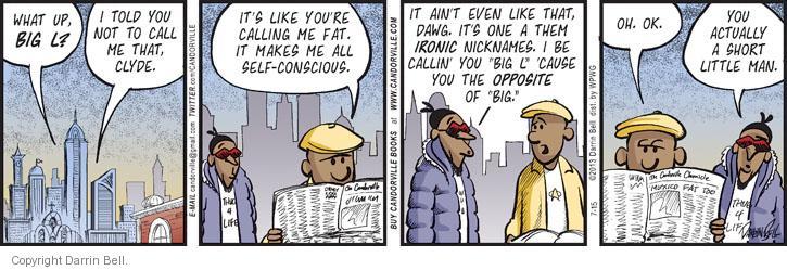 Cartoonist Darrin Bell  Candorville 2013-07-15 opposite