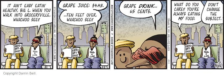 Comic Strip Darrin Bell  Candorville 2013-07-17 healthy food