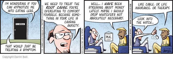 Comic Strip Darrin Bell  Candorville 2013-07-19 psychotherapy
