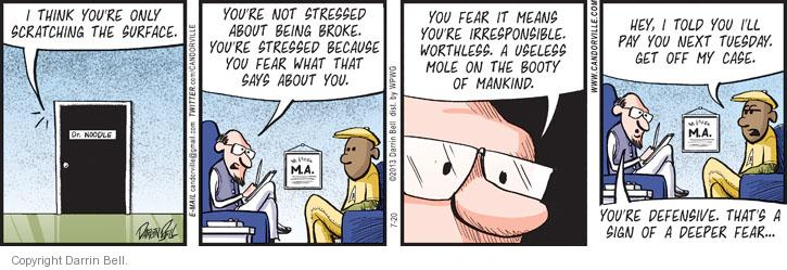 Comic Strip Darrin Bell  Candorville 2013-07-20 anxiety