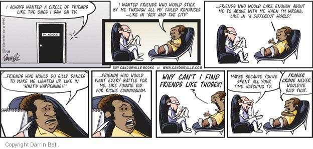 Comic Strip Darrin Bell  Candorville 2013-07-28 wrong time