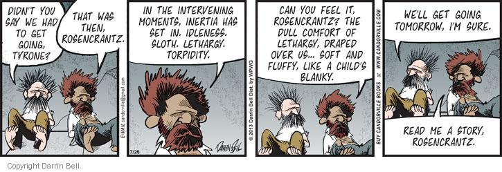 Cartoonist Darrin Bell  Candorville 2013-07-26 child