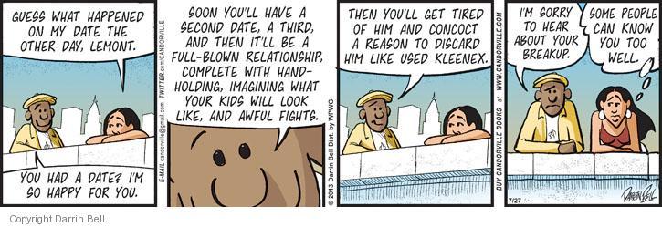 Comic Strip Darrin Bell  Candorville 2013-07-27 friendship