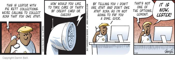 Comic Strip Darrin Bell  Candorville 2013-07-31 credit card
