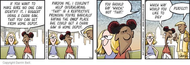 Comic Strip Darrin Bell  Candorville 2013-08-02 correction