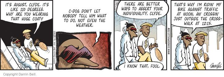 Comic Strip Darrin Bell  Candorville 2013-08-03 seasonal