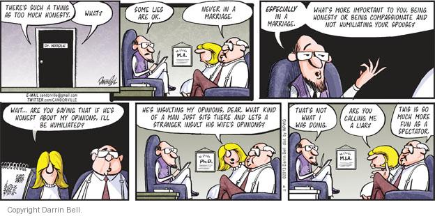 Comic Strip Darrin Bell  Candorville 2013-08-11 marriage counseling