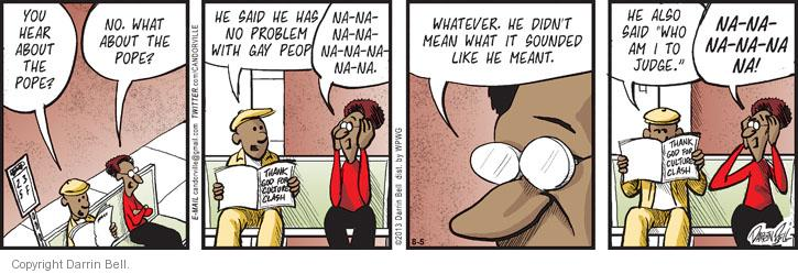 Comic Strip Darrin Bell  Candorville 2013-08-05 remark