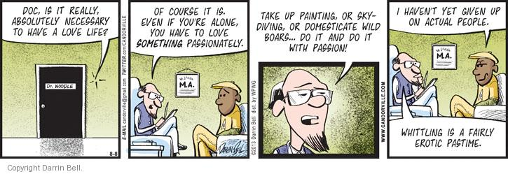 Comic Strip Darrin Bell  Candorville 2013-08-08 painting
