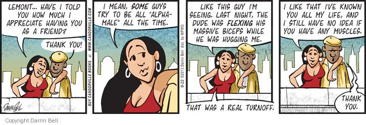 Comic Strip Darrin Bell  Candorville 2013-08-22 real