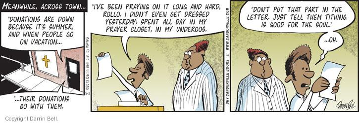 Comic Strip Darrin Bell  Candorville 2013-09-03 church