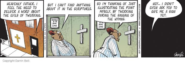 Comic Strip Darrin Bell  Candorville 2013-09-04 church bell