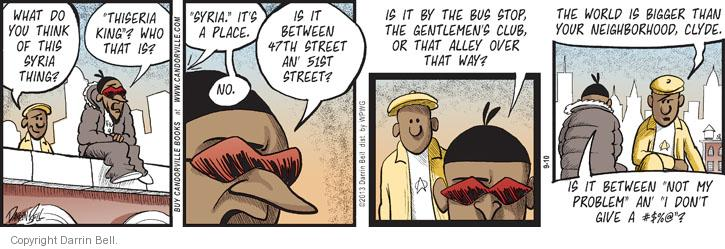 Comic Strip Darrin Bell  Candorville 2013-09-10 alley way