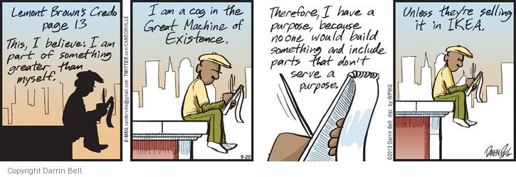 Comic Strip Darrin Bell  Candorville 2013-09-20 build
