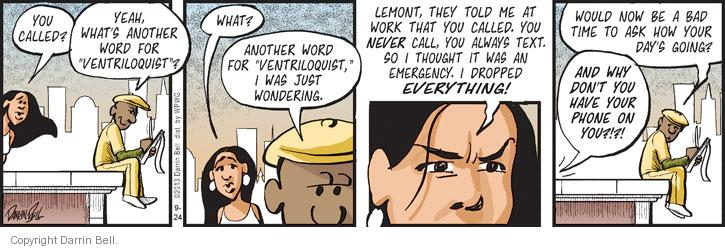 Comic Strip Darrin Bell  Candorville 2013-09-24 bad word