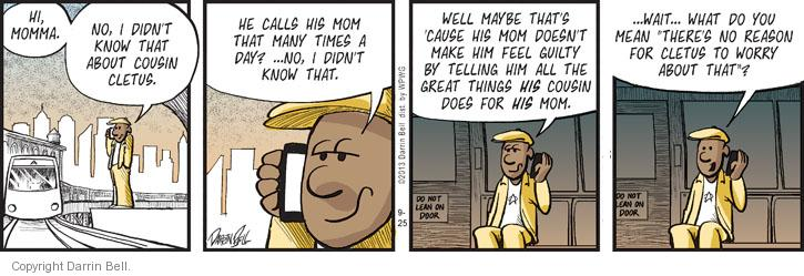 Comic Strip Darrin Bell  Candorville 2013-09-25 not guilty