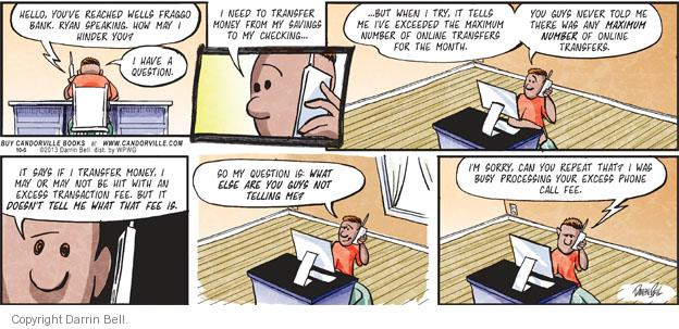 Comic Strip Darrin Bell  Candorville 2013-10-06 customer service call