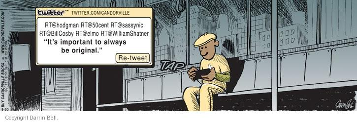 Comic Strip Darrin Bell  Candorville 2013-09-30 status