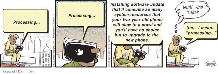 Comic Strip Darrin Bell  Candorville 2013-10-01 software installation
