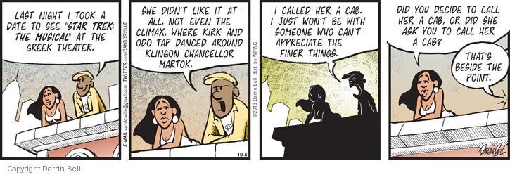 Comic Strip Darrin Bell  Candorville 2013-10-05 call