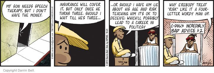 Comic Strip Darrin Bell  Candorville 2013-10-21 example