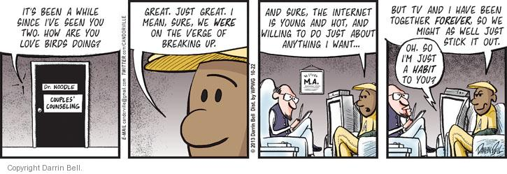 Comic Strip Darrin Bell  Candorville 2013-10-22 marriage counseling