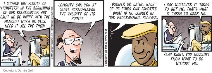 Comic Strip Darrin Bell  Candorville 2013-10-24 counselor
