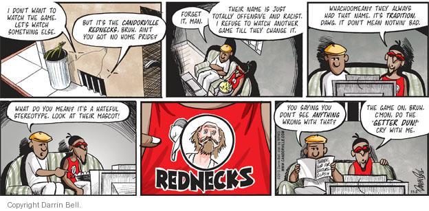 Comic Strip Darrin Bell  Candorville 2013-11-03 clash