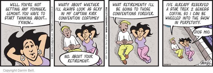Comic Strip Darrin Bell  Candorville 2013-10-30 anticipation