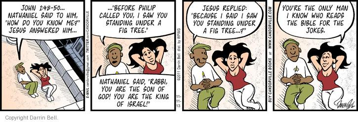Comic Strip Darrin Bell  Candorville 2013-11-11 disciple