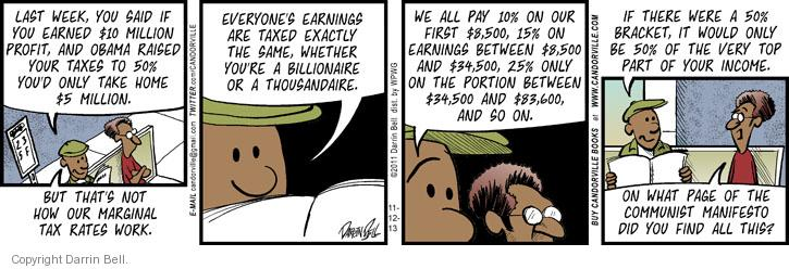 Comic Strip Darrin Bell  Candorville 2013-11-12 salary