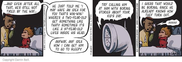 Comic Strip Darrin Bell  Candorville 2013-11-20 sleep