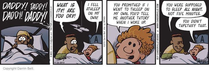 Comic Strip Darrin Bell  Candorville 2013-11-22 woke