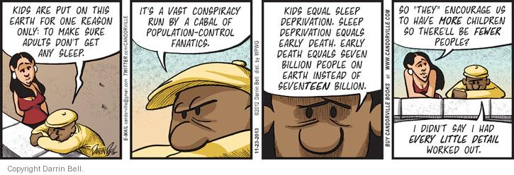Comic Strip Darrin Bell  Candorville 2013-11-23 cabal