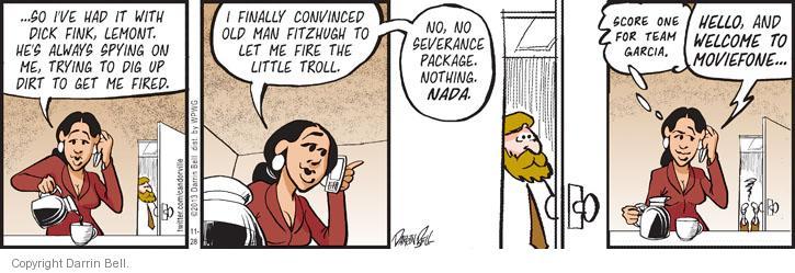 Comic Strip Darrin Bell  Candorville 2013-11-28 Fitzhugh