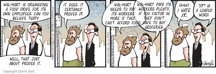 Comic Strip Darrin Bell  Candorville 2013-11-30 poverty