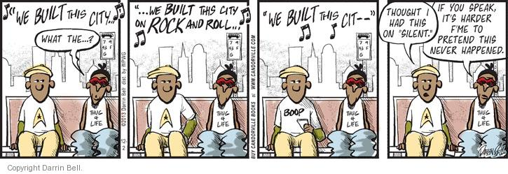 Comic Strip Darrin Bell  Candorville 2013-12-02 embarrass